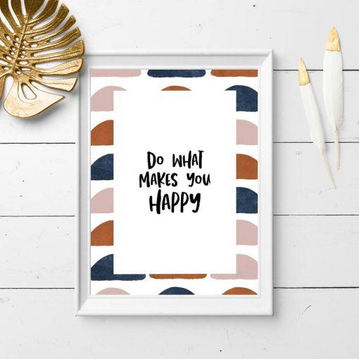 Plakat papierowy z dewizą o szczęściu