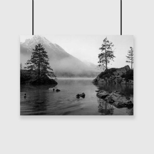 Plakat do pokoju - Jezioro i drzewa