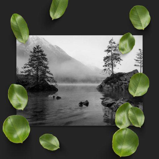 Plakat do biura podróży - Jezioro i drzewa