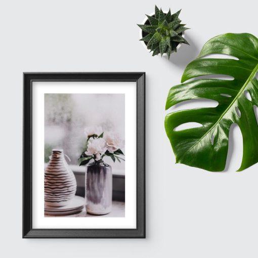 Plakat do przedpokoju - Wazon z kwiatami