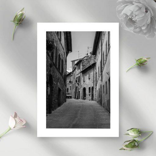 Plakat z uliczką do przedpokoju
