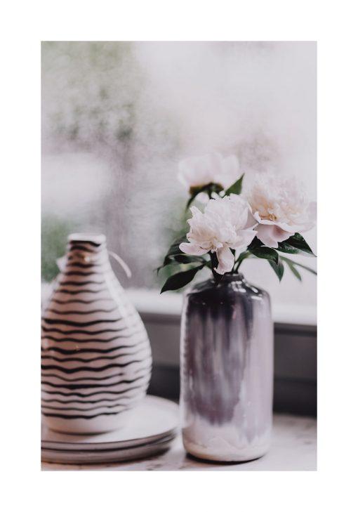 Plakat z wazonem i kwiatami