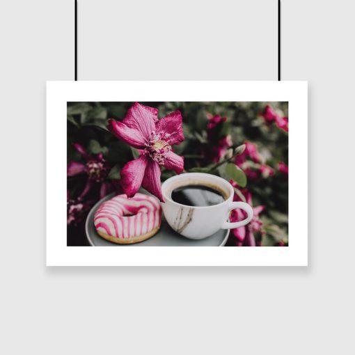 Plakat poziomy z kawą do salonu