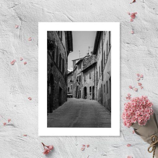 Plakat z uliczką do pokoju