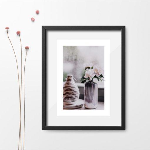 Plakat do salonu - Wazon z kwiatami