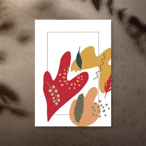 Plamy i liście na plakacie