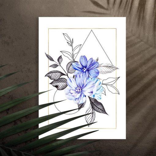 Plakat do pokoju - Motyw kwiatowy