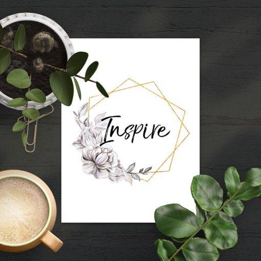 Plakat do sypialni - Inspire