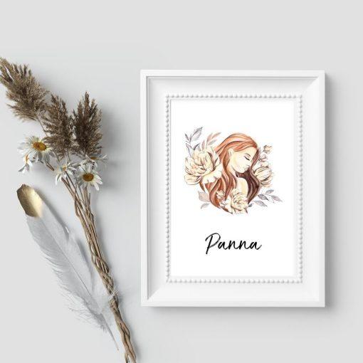Plakat do sypialni - Panna
