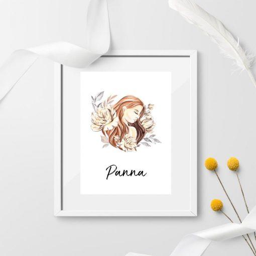 Plakat na prezent - Panna