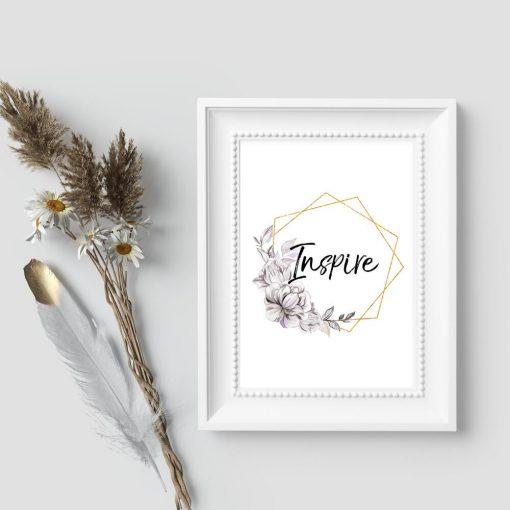 Plakat na prezent - Inspire