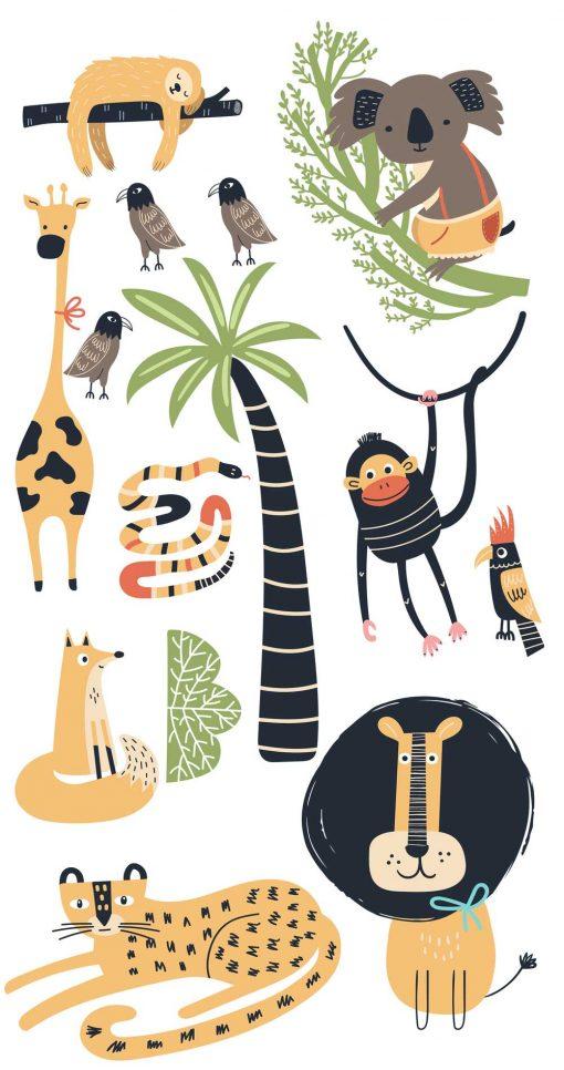 Komplet naklejek dla dzieci - Zwierzaki
