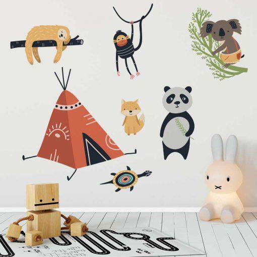 Naklejki do pokoju dziecka - Dzikie zwierzęta