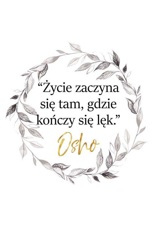 Plakat z cytatem Osho