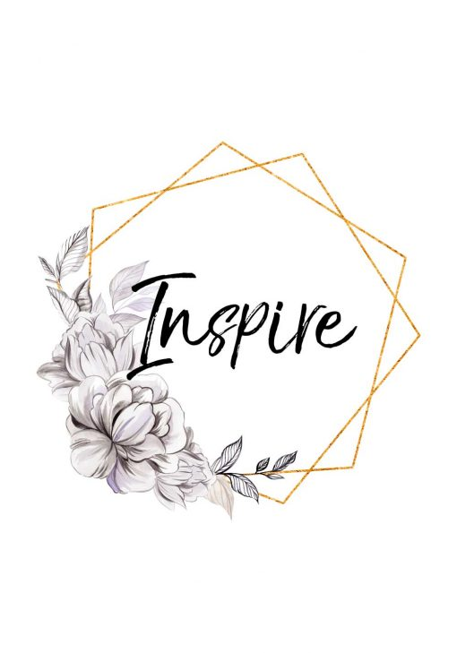 Plakat z napisem - Inspire