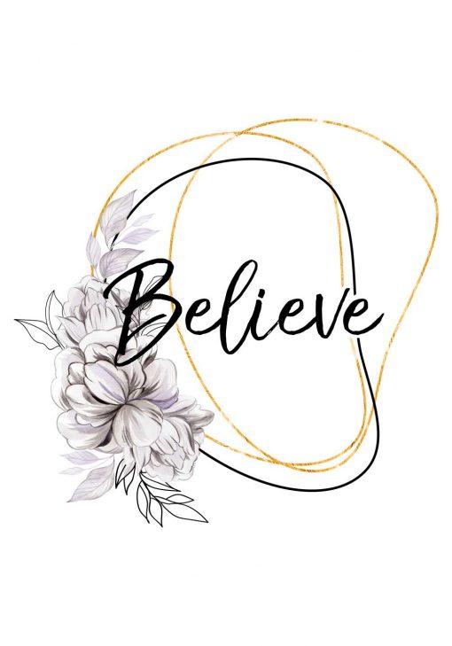 Plakat - Believe