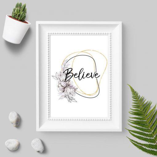 Plakat do sypialni - Believe