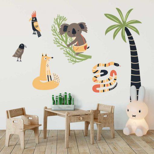 Komplet naklejek do pokoju dziecięcego - Zwierzaki