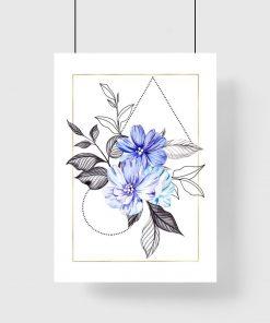 Plakat do salonu - Motyw kwiatowy