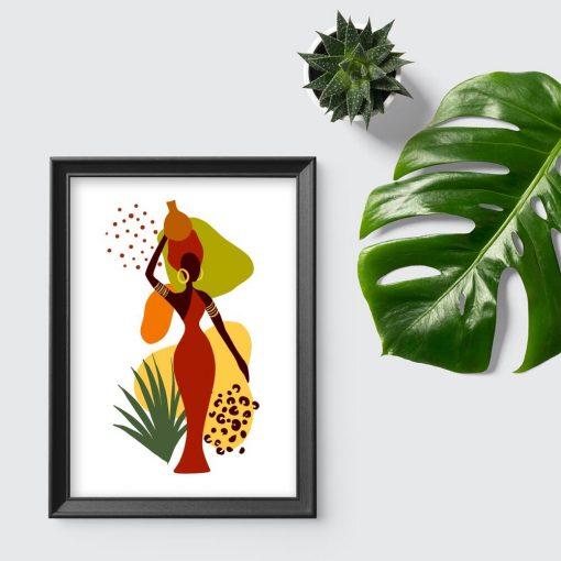 Plakat na prezent - Kobieta i abstrakcja