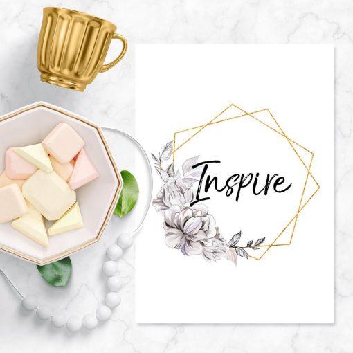 Plakat do salonu - Inspire
