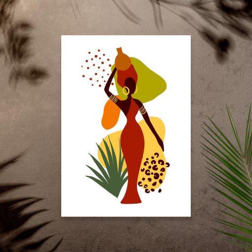 Plakat do pokoju - Kobieta i abstrakcja