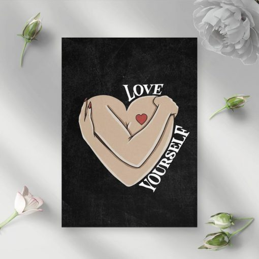 Plakat do przedpokoju - Love yourself