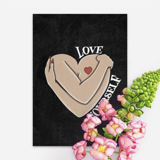 Plakat do sypialni - Love yourself