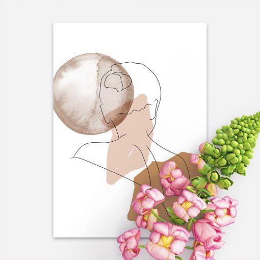Plakat z rysunkiem kobiecej postaci