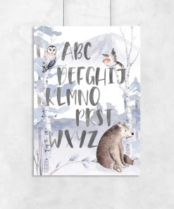 plakat ze zwierzętami dla przedszkolaka