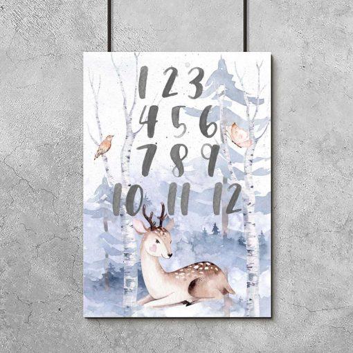 edukacyjny plakat dla dzieci - jelonek