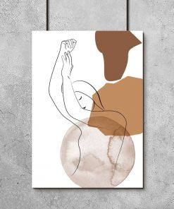 Plakat z aktem kobiety