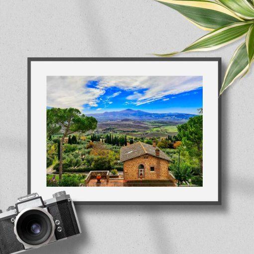 Plakat z miejscowością Pienza do biura podróży