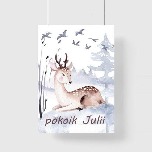 maleńki jelonek na plakacie dla dziecka