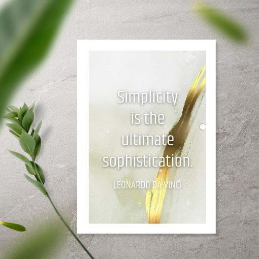 Plakat da Vinci simplicity is the ultimate sophistication