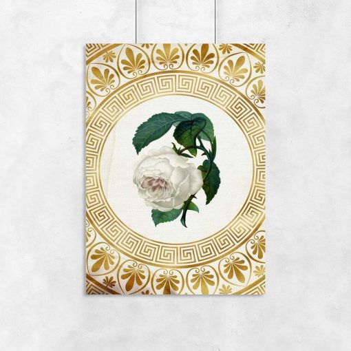 Plakat do salonu - Biała róża