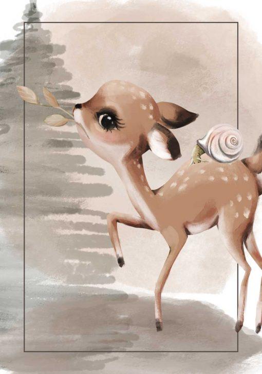 Plakat boho z motywem dziecięcym