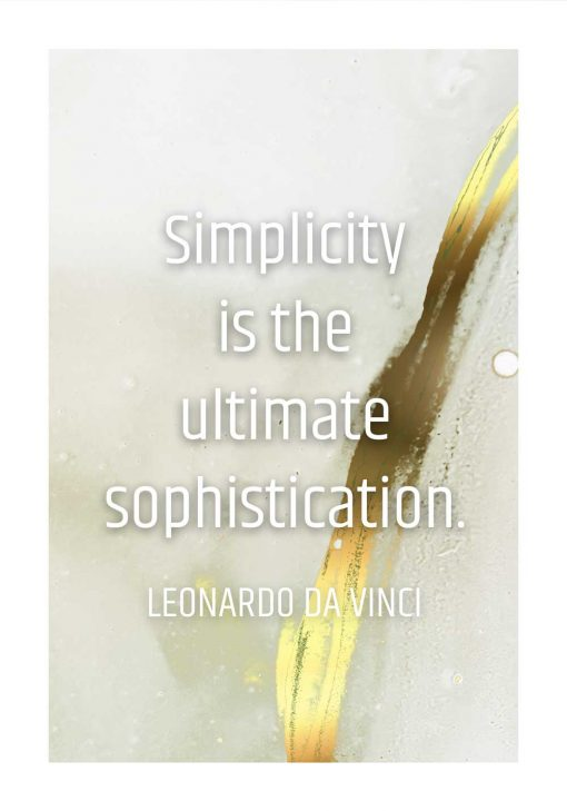 Plakat simplicity is the ultimate sophistication