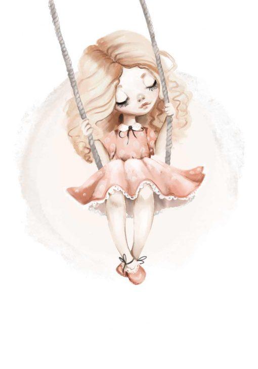 Plakat dla dziecka - Dziewczynka
