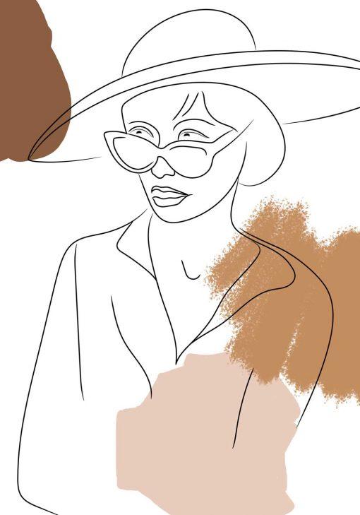 Plakat przedstawiający szkic kobiecej postaci