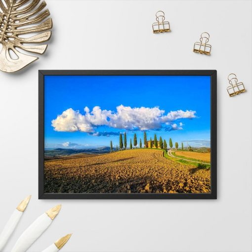 Plakat z willą w Toskanii do sypialni