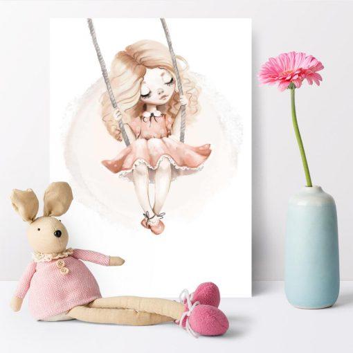 Plakat do pokoju dziecka z dziewczynką