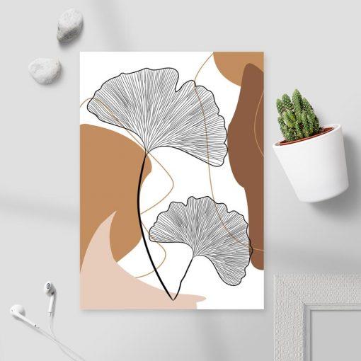 Szkic motywów botanicznych na plakacie