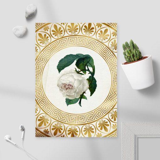 Plakat do pokoju - Biała róża