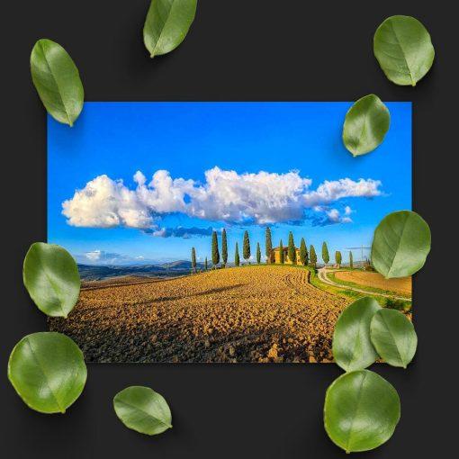 Plakat z willą w Toskanii do pokoju