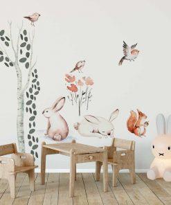 dekoracja do przedszkola naklejki ze zwierzętami