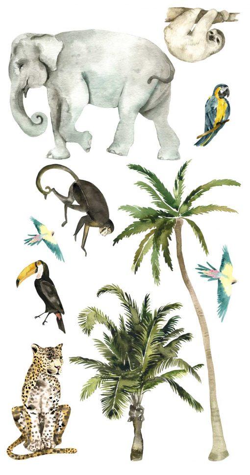 Naklejki tropikalne do pokoju dziecięcego
