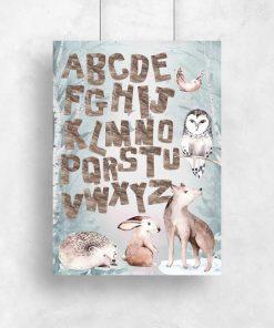 Plakat z alfabetem dla dziecka