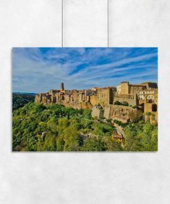 Plakat z miasteczkiem Pitigliano do salonu