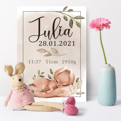 Plakat personalizowany do pokoju dziecka